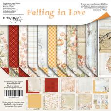 Набор двусторонней бумаги 20 х 20 см. от Scrapmir Falling in Love 11 листов