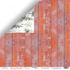 Лист двусторонней бумаги 30x30 см. от Scrapmir Merry Christmas Зимний Лес