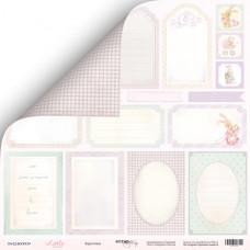 Лист двусторонней бумаги 30x30 см. от Scrapmir Little Bunny Карточки №1