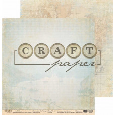 "Лист бумаги от CraftPaper ""Bon Voyage"" Бухта, 30 х 30 см."