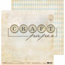"""Лист бумаги от CraftPaper """"Bon Voyage"""" Газетный, 30 х 30 см."""