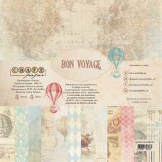 """Набор бумаги от CraftPaper """"Bon Voyage"""" 8 листов 20 х 20 см."""