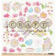 """Лист бумаги от CraftPaper """"Цветочная вышивка"""" Милый дом, 30 х 30 см."""