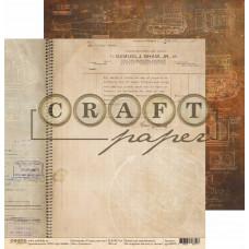 """Лист бумаги от CraftPaper """"I've got your six"""" Смелость, 30 х 30 см."""