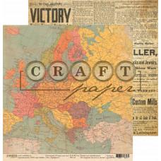 """Лист бумаги от CraftPaper """"I've got your six"""" Храбрость, 30 х 30 см."""