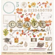 """Лист бумаги от CraftPaper """"Моя школа"""" Сентябрь, 30 х 30 см."""