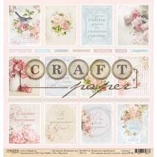 """Лист бумаги от CraftPaper """"Пионовый сад"""" Карточки, 30 х 30 см."""