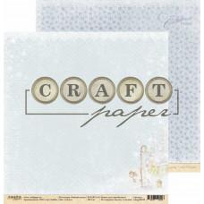 "Лист бумаги от CraftPaper ""Зимний ангел"" Ангел, 30 х 30 см."