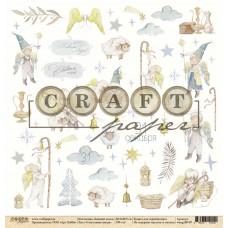 """Лист бумаги от CraftPaper """"Зимний ангел"""" Счастливая звезда, 30 х 30 см."""
