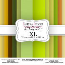 """Набор бумаги от Фабрики Декора """"Background 3 XL"""" 12 л. 30 х 30 см."""