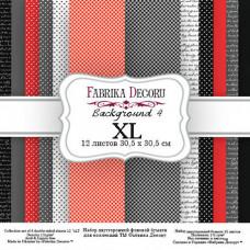 """Набор бумаги от Фабрики Декора """"Background 4 XL"""" 12 л. 30 х 30 см."""