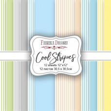 "Набор бумаги от Фабрики Декора ""Cool Stripes"" 10 листов 30 х 30 см."
