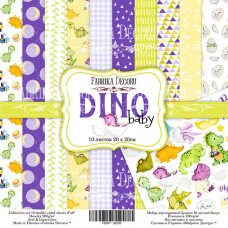 "Набор бумаги от Фабрики Декора ""Dino Baby"" 10 листов 20 х 20 см."