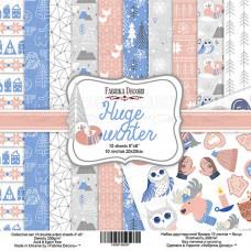 """Набор бумаги от Фабрики Декора """"Huge Winter"""" 10 листов 20 х 20 см."""