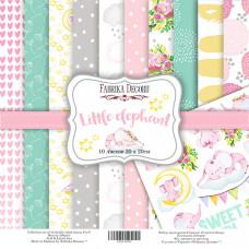 "Набор бумаги от Фабрики Декора ""Little elephant"" 10 листов 20 х 20 см."