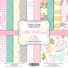 "Набор бумаги от Фабрики Декора ""Little elephant"" 10 листов 30 х 30 см."