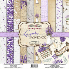 "Набор бумаги от Фабрики Декора ""Lavender Provence"" 10 листов 20 х 20 см."