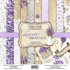 "Набор бумаги от Фабрики Декора ""Lavender Provence"" 10 листов 30 х 30 см."
