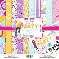 "Набор бумаги от Фабрики Декора ""Party girl"" 10 листов 30 х 30 см."