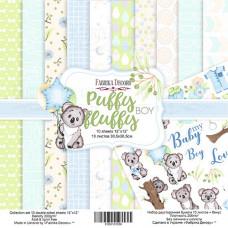 "Набор бумаги от Фабрики Декора ""Puffy Fluffy Boy"" 10 листов 30 х 30 см."