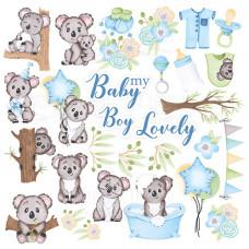 """Карточки для вырезания от Фабрики Декора """"Puffy Fluffy Boy"""", 30 х 30 см."""