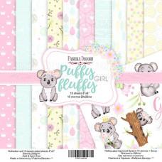 "Набор бумаги от Фабрики Декора ""Puffy Fluffy Girl"" 10 листов 20 х 20 см."