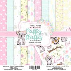 "Набор бумаги от Фабрики Декора ""Puffy Fluffy Girl"" 10 листов 30 х 30 см."