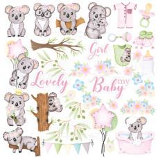 """Карточки для вырезания от Фабрики Декора """"Puffy Fluffy Girl"""", 30 х 30 см."""