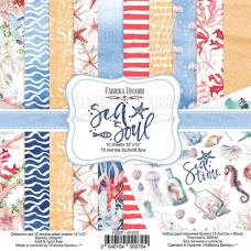 "Набор бумаги от Фабрики Декора ""Sea Soul"" 10 листов 30 х 30 см."