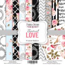 "Набор бумаги от Фабрики Декора ""Sensual love"" 10 листов 20 х 20 см."