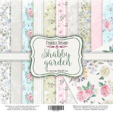 """Набор бумаги от Фабрики Декора """"Shabby garden"""" 10 листов 20 х 20 см."""