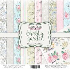 """Набор бумаги от Фабрики Декора """"Shabby garden"""" 10 листов 30 х 30 см."""