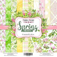 """Набор бумаги от Фабрики Декора """"Spring blossom"""" 10 листов 20 х 20 см."""