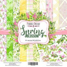 """Набор бумаги от Фабрики Декора """"Spring blossom"""" 10 листов 30 х 30 см."""