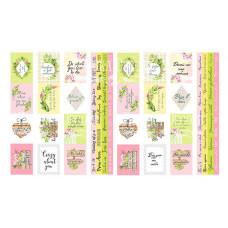 """Карточки для вырезания от Фабрики Декора """"Spring blossom"""", 4 полосы"""