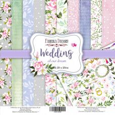 """Набор бумаги от Фабрики Декора """"Wedding of our dream"""" 10 листов 20 х 20 см."""