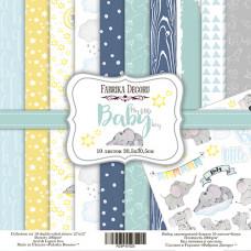 "Набор бумаги от Фабрики Декора ""My little baby boy"" 10 листов 30 х 30 см."