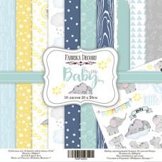"Набор бумаги от Фабрики Декора ""My little baby boy"" 10 листов 20 х 20 см."