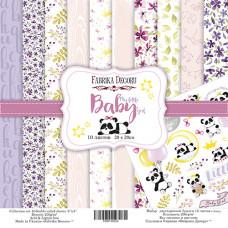 "Набор бумаги от Фабрики Декора ""My little baby girl"" 10 листов 20 х 20 см."
