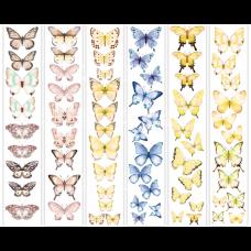 """Карточки для вырезания от Фабрики Декора """"Бабочки -1"""", 6 полос"""