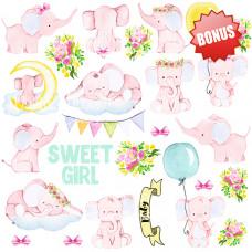 """Карточки для вырезания от Фабрики Декора """"Little elephant"""", 30 х 30 см."""