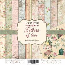 "Набор бумаги от Фабрики Декора ""Letters of love"" 10 листов 20 х 20 см."