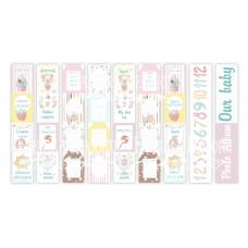 """Карточки для вырезания от Фабрики Декора """"Sweet baby girl"""", 5 полос"""