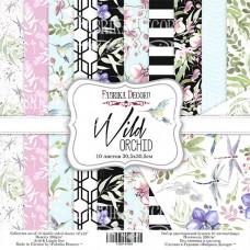 """Набор бумаги от Фабрики Декора """"Wild orchid"""" 10 листов 20 х 20 см."""