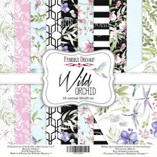 """Набор бумаги от Фабрики Декора """"Wild orchid"""" 10 листов 30 х 30 см."""