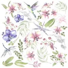 """Карточки для вырезания от Фабрики Декора """"Wild Orchid"""", 30 х 30 см."""