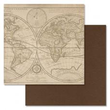 """Лист бумаги от ScrapMania """"Идеальный мужчина"""" Карта, 30 х 30 см."""