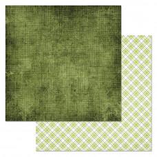 "Лист бумаги от ScrapMania ""Фономикс. Зелёный"" Холща, 30 х 30 см."