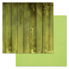 """Лист бумаги от ScrapMania """"Фономикс. Зелёный"""" Досочки, 30 х 30 см."""