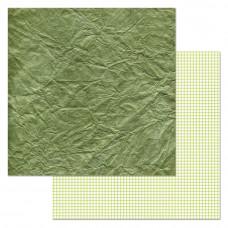 """Лист бумаги от ScrapMania """"Фономикс. Зелёный"""" Бумага, 30 х 30 см."""